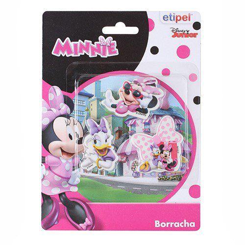 Kit c/ 3 Borrachas Minnie - Disney