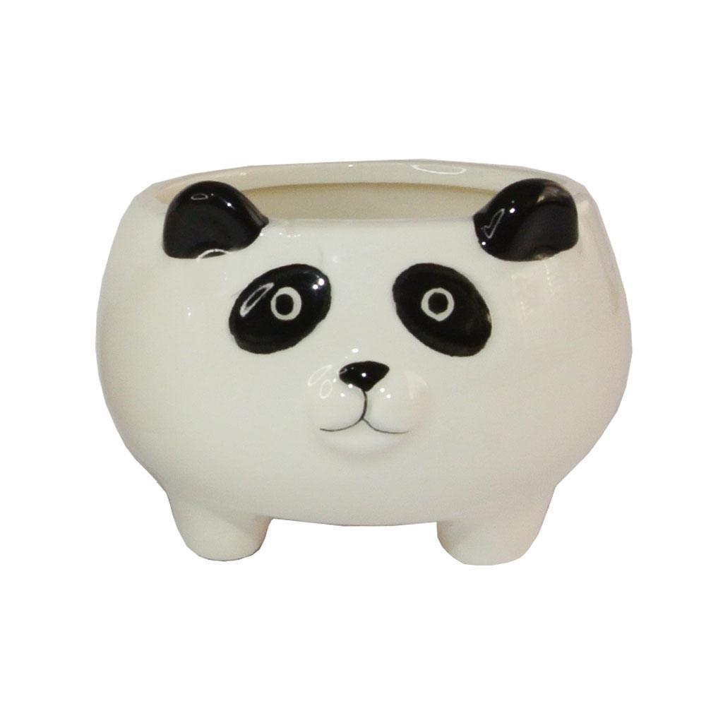 Cachepot Decorativo De Porcelana Panda / Porco 8x10cm