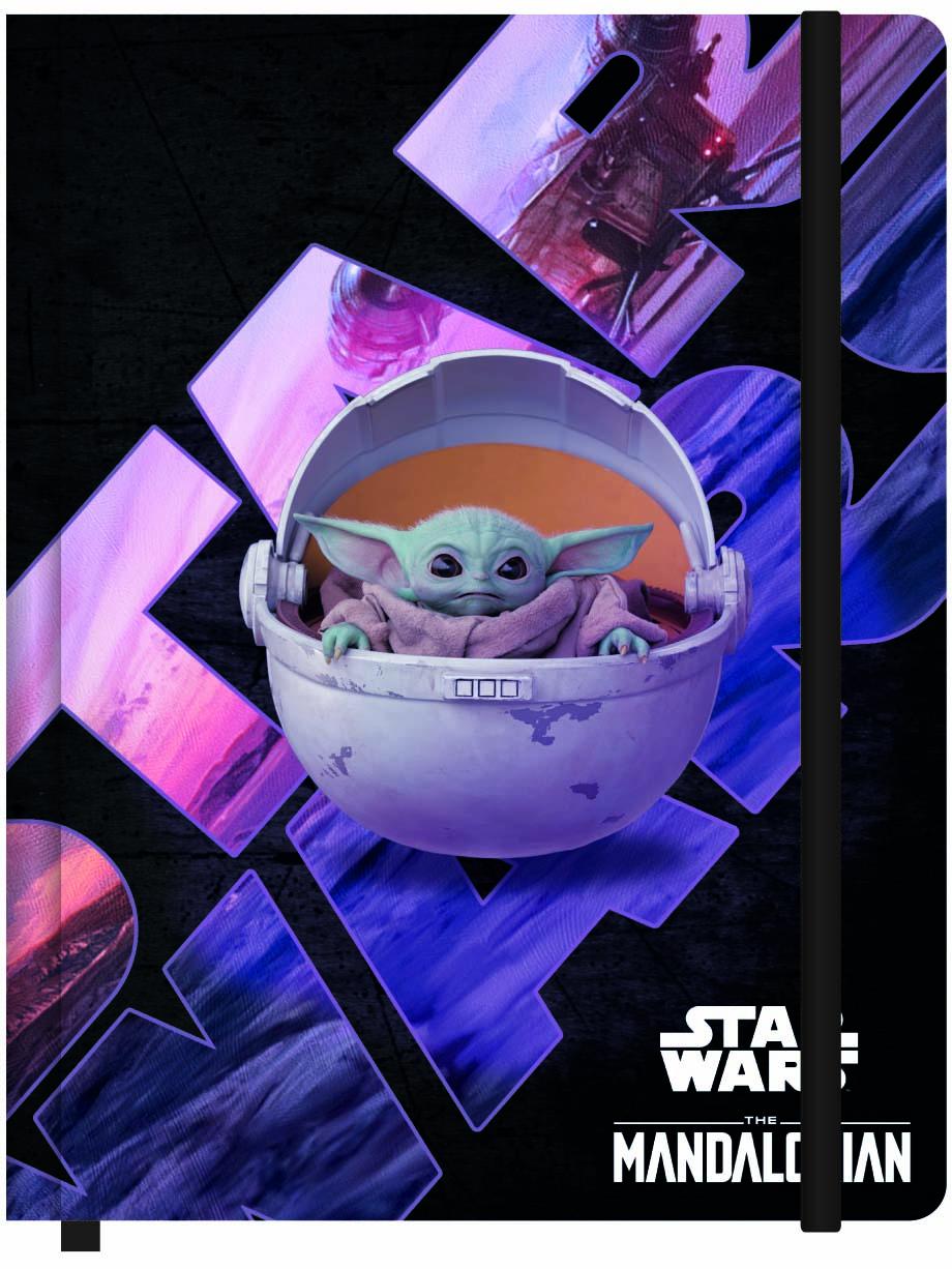 Caderneta de Anotação Pautada G 190x245mm 80Fls Baby Yoda The Mandalorian - Jandaia