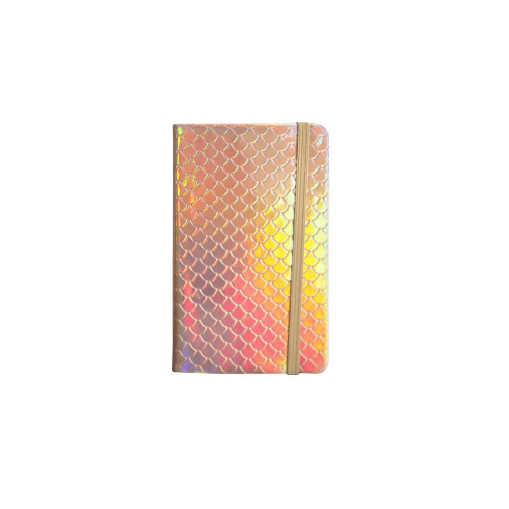 Caderneta / Bloco de Anotação Escama Sereia 9x14cm 80 fls Pautada