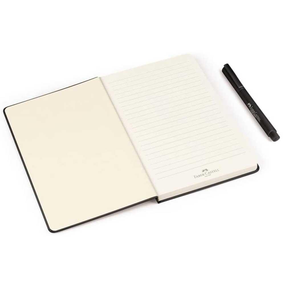 Caderno Pautado Creative Journal 84 Fls Pautado Preto + Fine Pen - Faber-Castell