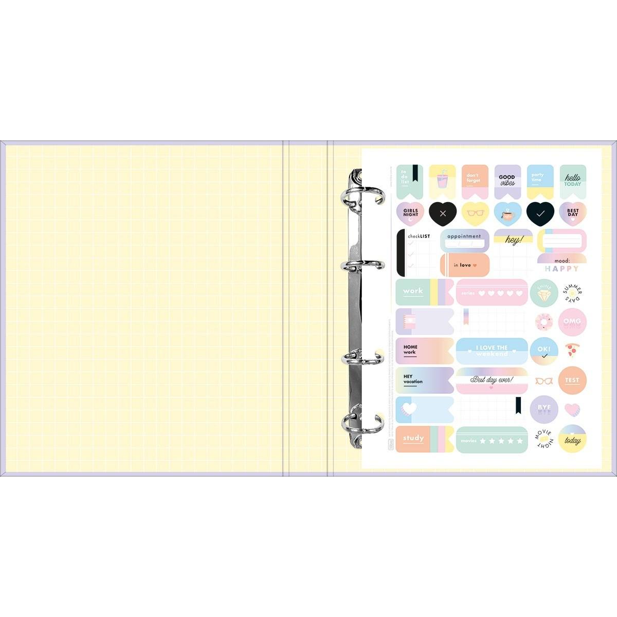 Caderno Argolado Cartonado Colegial C/ Elástico Happy 80fls - Tilibra