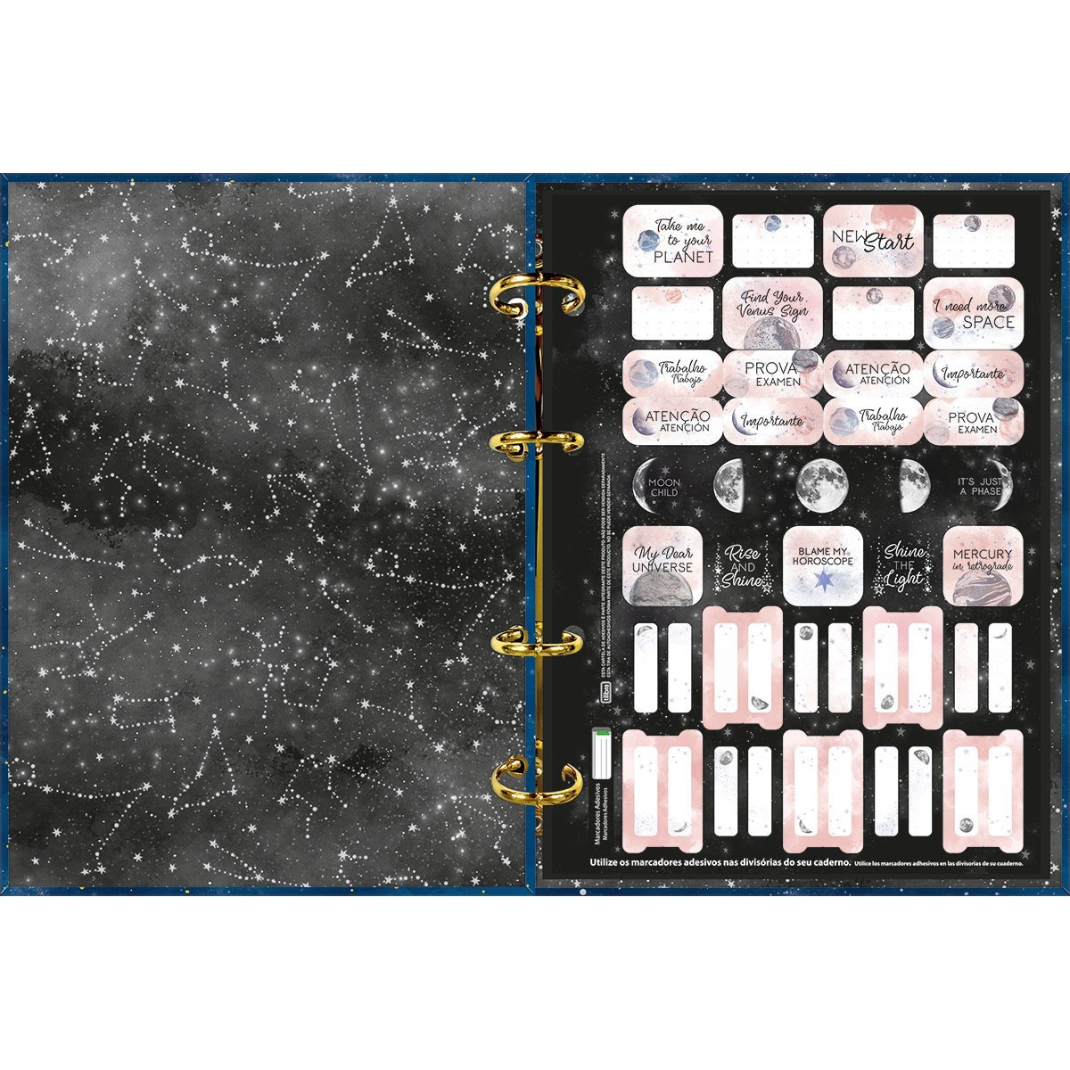 Caderno Argolado Cartonado Colegial Magic 160 Folhas - Tilibra