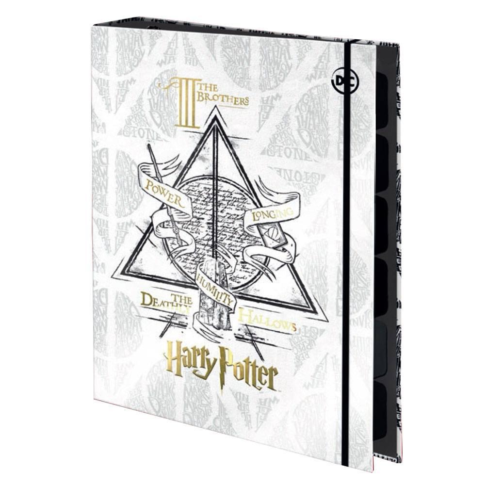 Caderno Argolado/Fichário Colegial 1/4 com Elástico Harry Potter c/ 48 Fls – DAC
