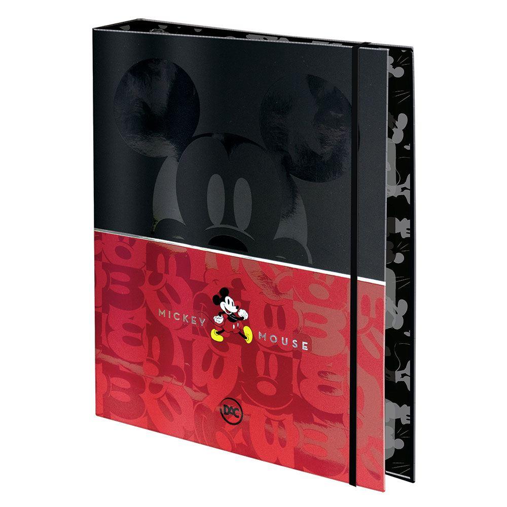Caderno Argolado/Fichário Colegial 1/4 com Elástico Mickey c/ 48 Fls – DAC