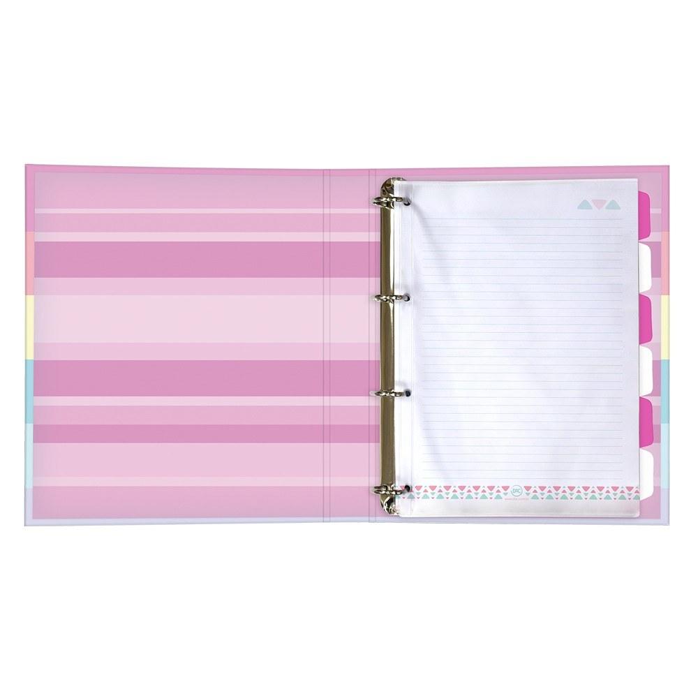 Mini Fichário/Caderno Argolado 1/4 C/ Elástico Enjoy 48 Fls - DAC