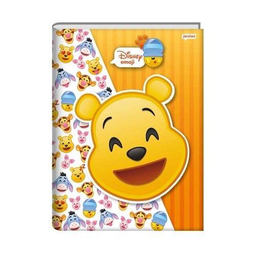 Caderno Capa Dura Brochura Disney Emoji 1/4 96 Folhas - Jandaia