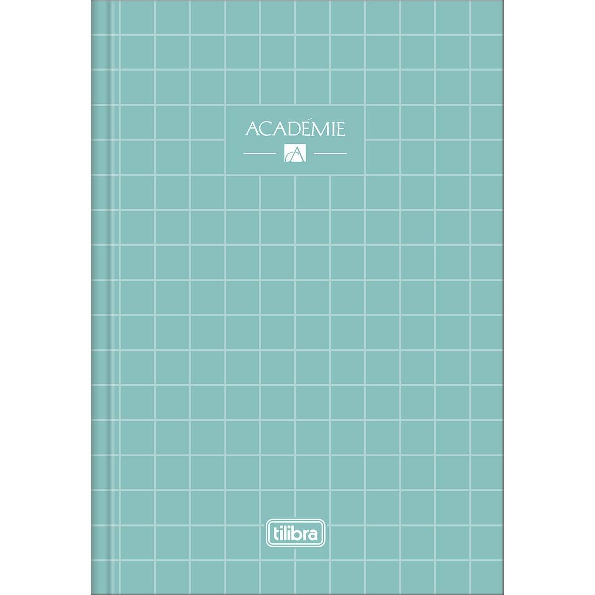Caderno Brochura Capa Dura Universitário Académie Feminino 80 Fls - Tilibra