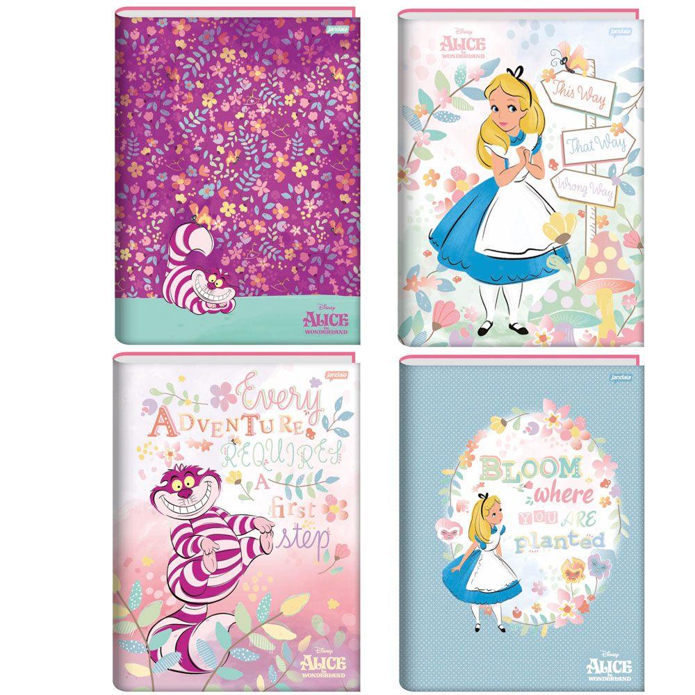 Caderno Universitário Brochura CD 1 Matéria Alice 80fls – Jandaia