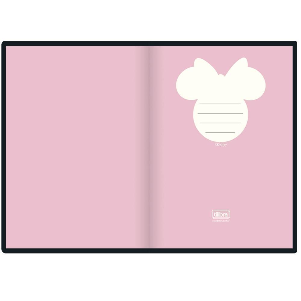 Caderno Costurado Sem Pauta Minnie - 80 Folhas - Tilibra