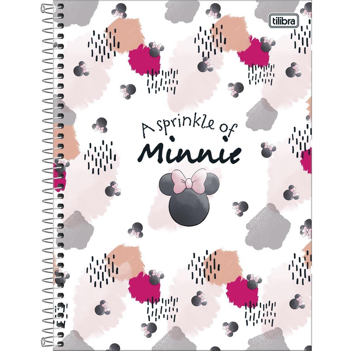 Caderno Espiral Capa Dura Universitário 1 Matéria Minnie Light 80 fls. - Tilibra