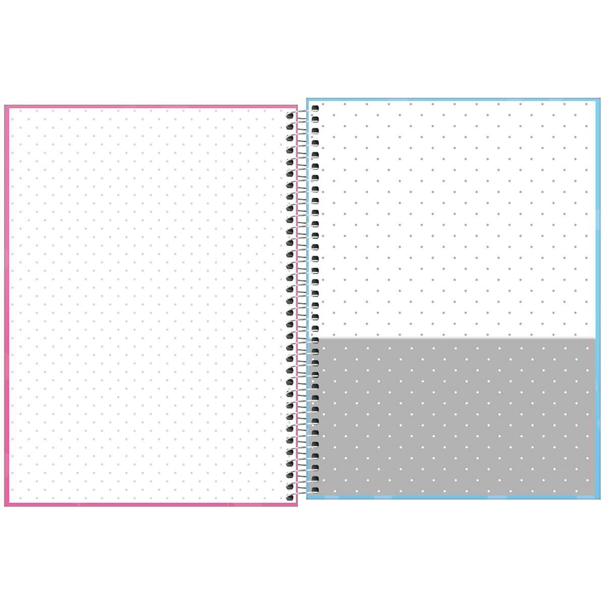 Caderno Espiral Capa Dura Universitário 1 Matéria Bichinhos 80 Fls - Tilibra