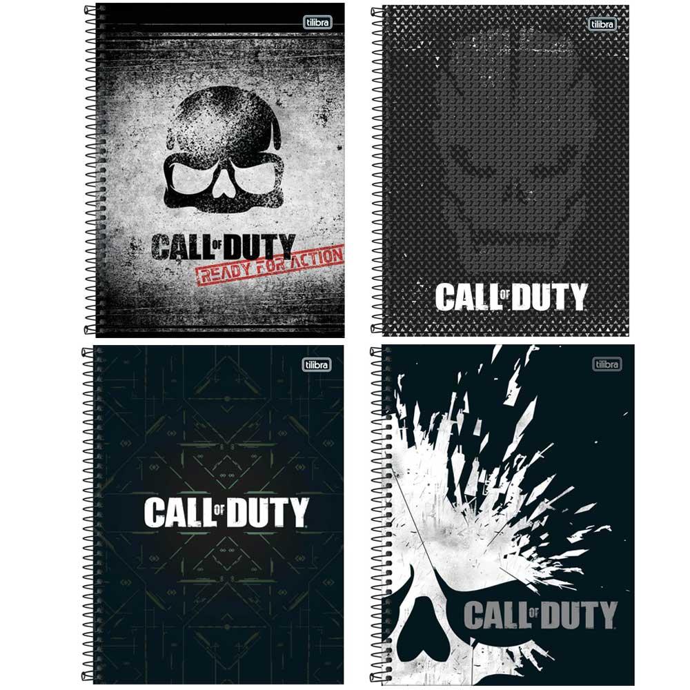 Caderno Espiral Capa Dura Universitário 1 Matéria Call of Duty 80 Fls - Tilibra