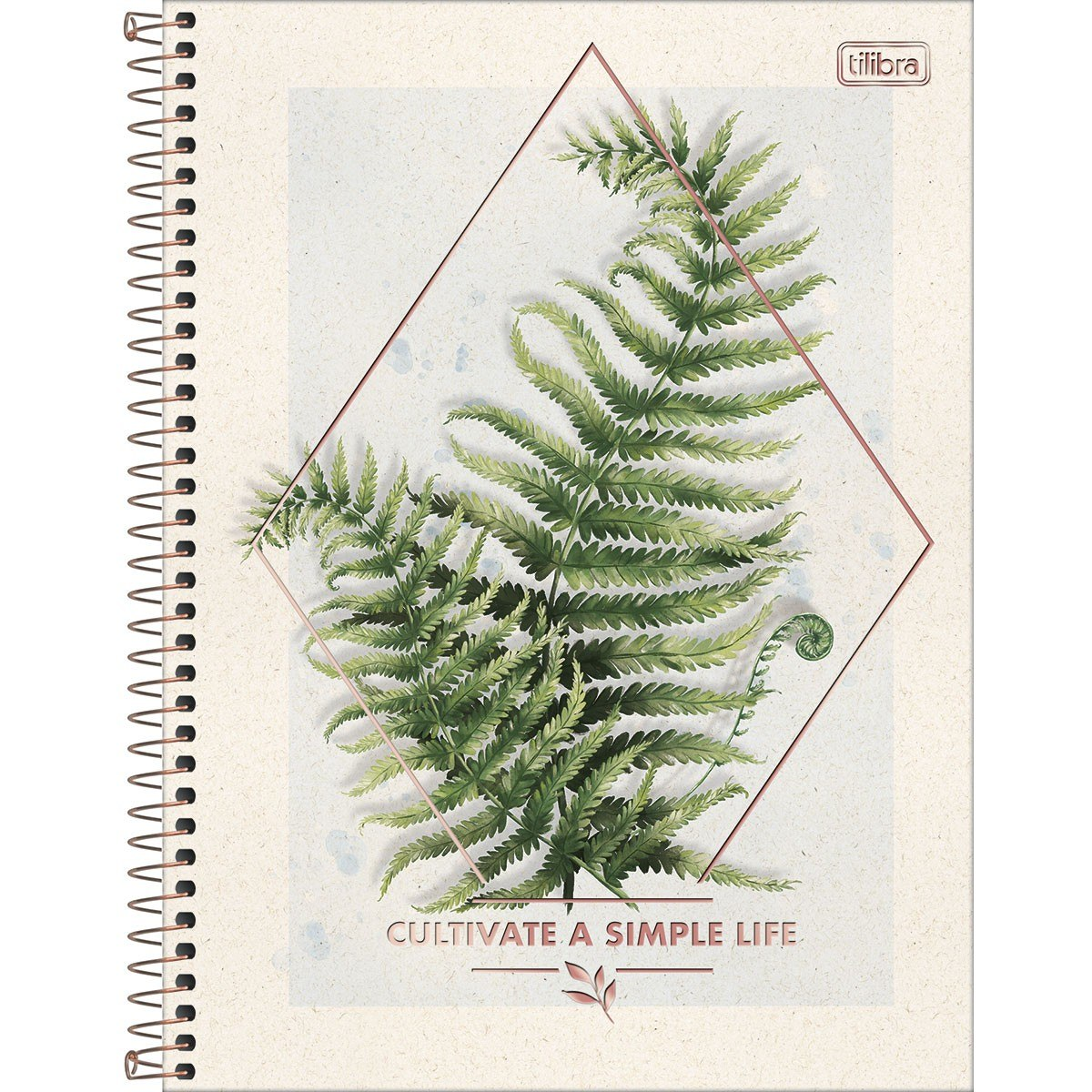 Caderno Espiral Capa Dura Universitário 1 Matéria Naturalis 80 Fls - Tilibra
