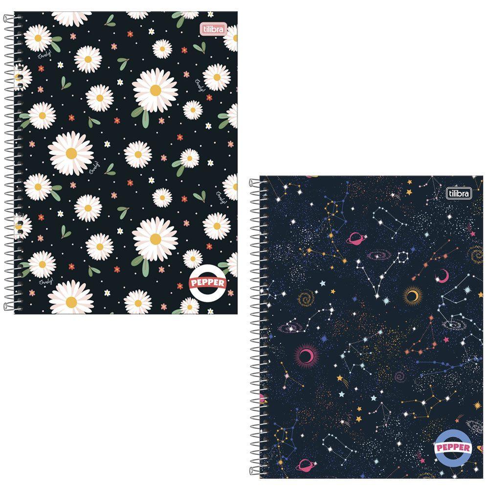 Caderno Espiral Capa Dura Universitário 1 Matéria Pepper 80 Fls - Tilibra