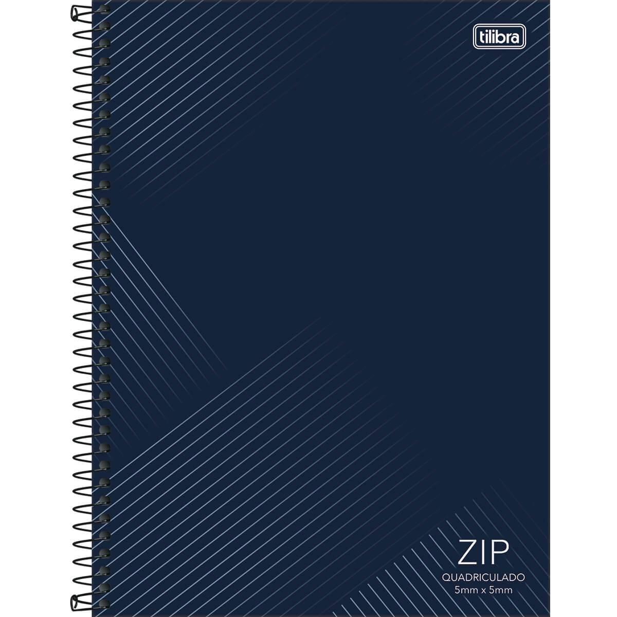 Caderno Espiral Capa Dura Universitário Quadriculado 5x5mm Zip 96 Fls - Tilibra