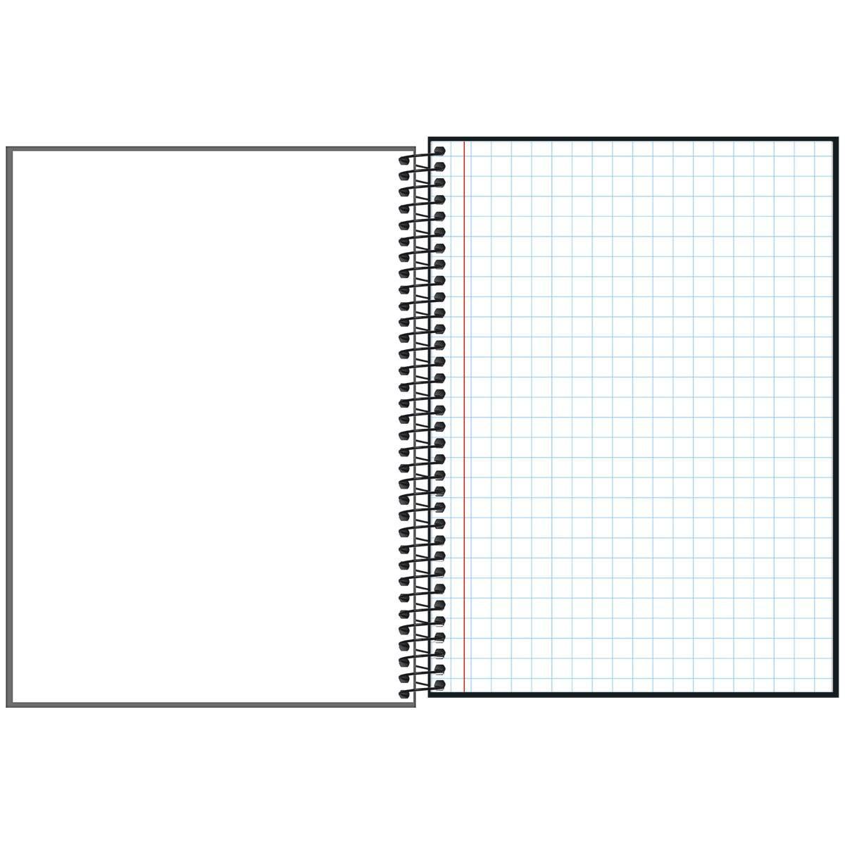 Caderno Quadriculado 1x1cm Espiral Capa Dura Universitário D+ 96 Folhas - Tilibra
