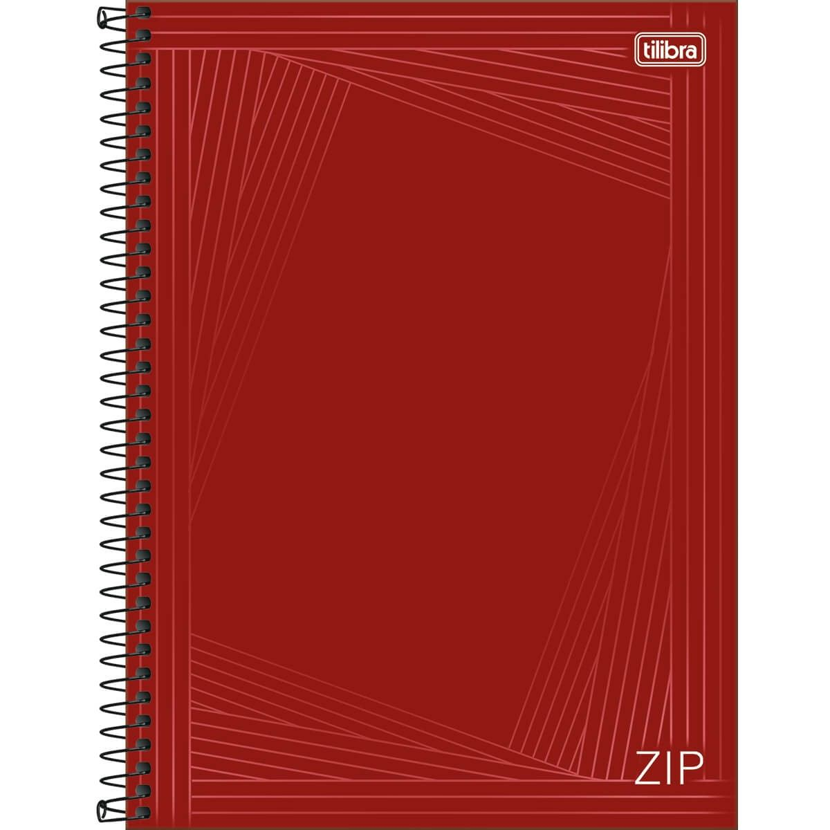 Caderno Espiral Capa Dura Universitário 10 Matérias Zip 160 Fls - Tilibra
