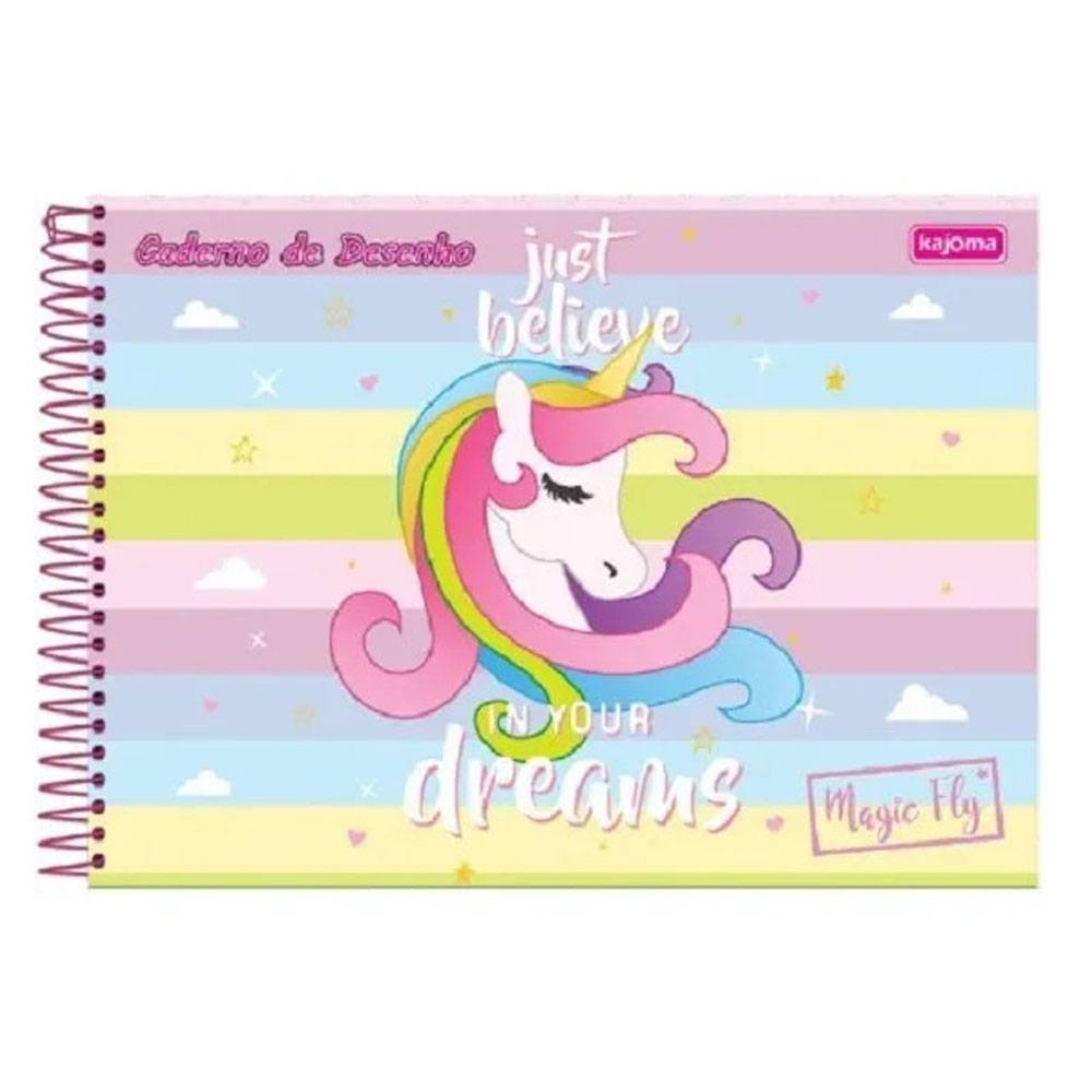 Caderno de Desenho Espiral Capa Dura 96 Fls Magic Fly