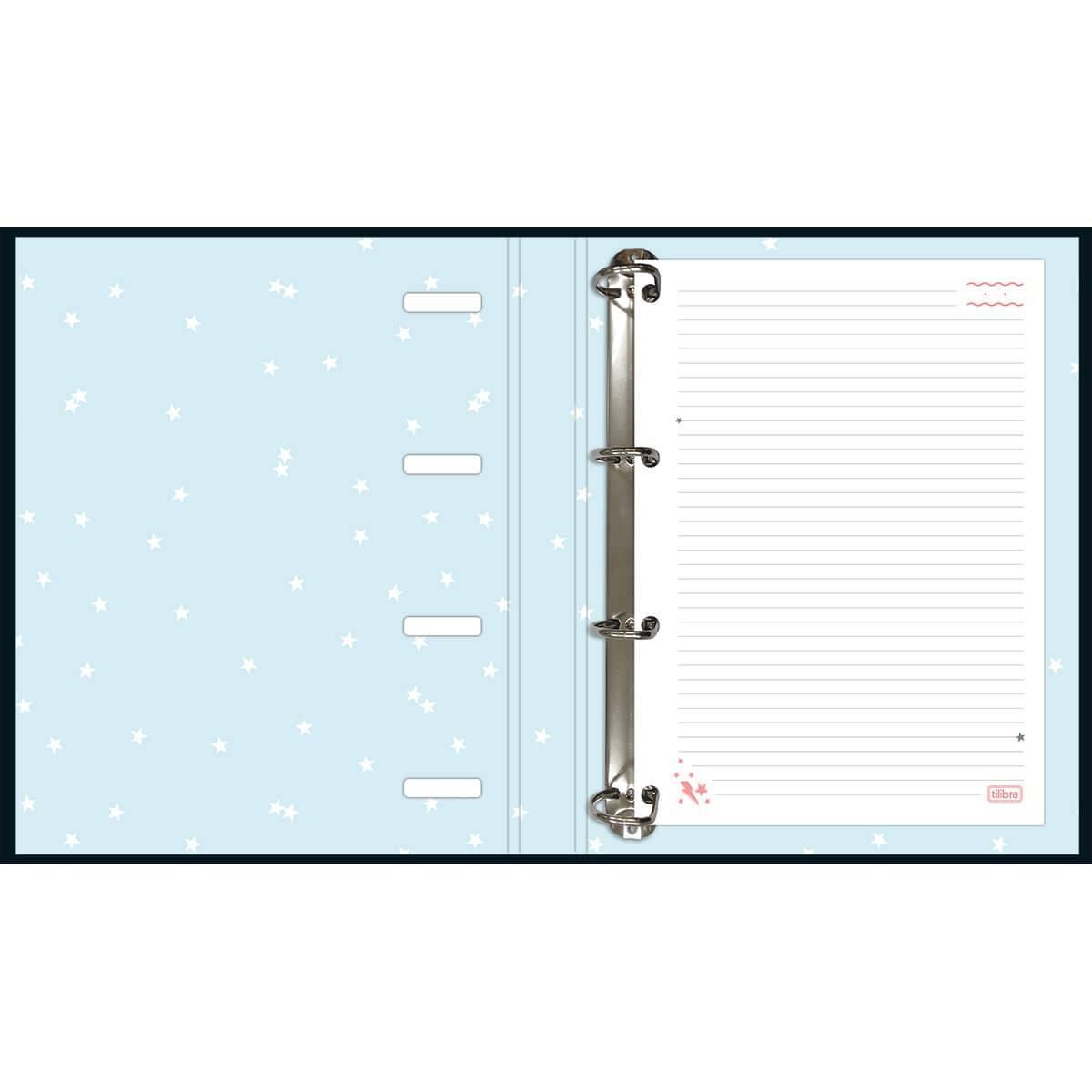 Caderno Argolado Cartonado Universitário com Elástico Capricho 80fls - Tilibra