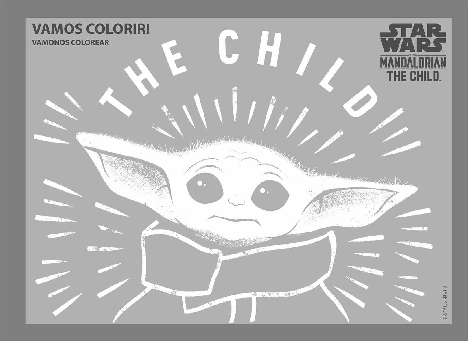 Caderno Espiral de Desenho/Cartografia 80 Fls Capa Dura 275x200mm Baby Yoda - Jandaia