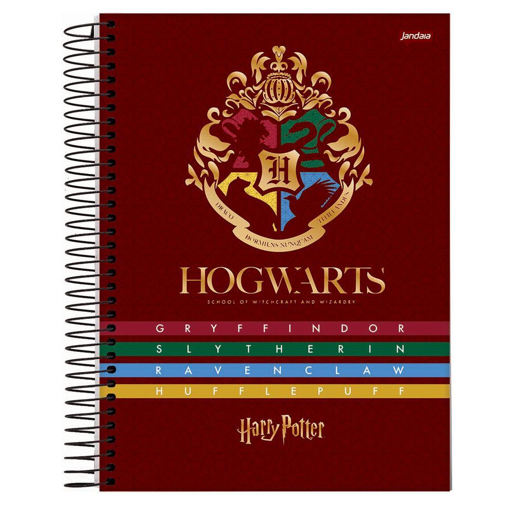Caderno Espiral Capa Dura 1/4 96FL Harry Potter