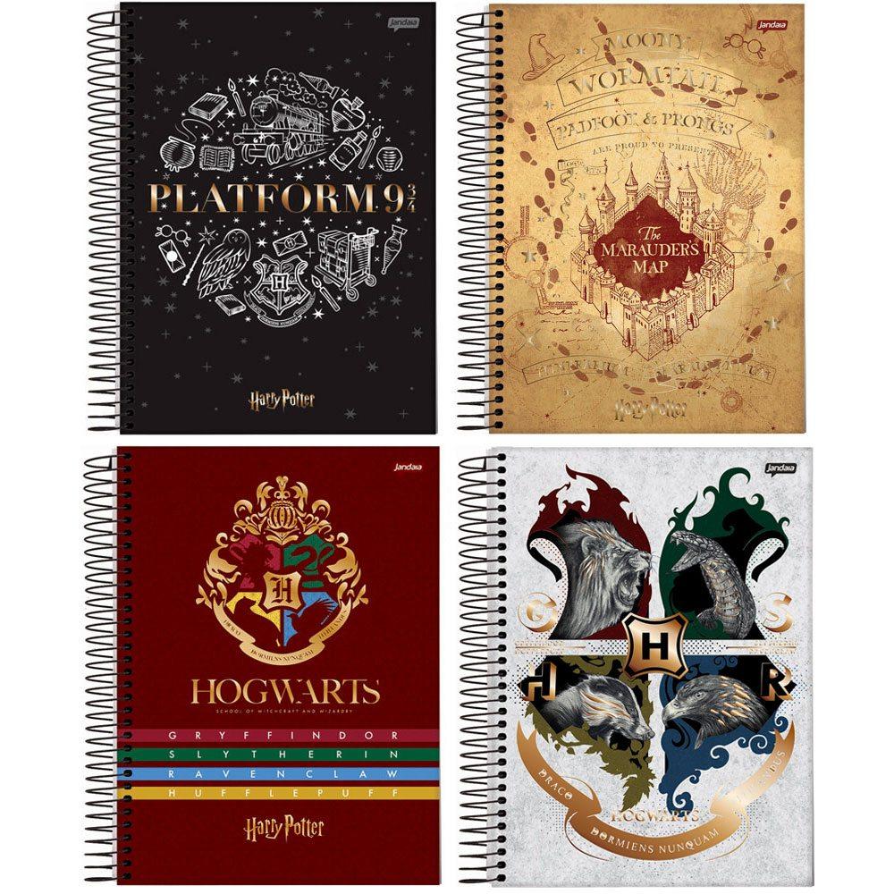 Caderno Espiral Capa Dura Colegial 80Fls Harry Potter - Jandaia