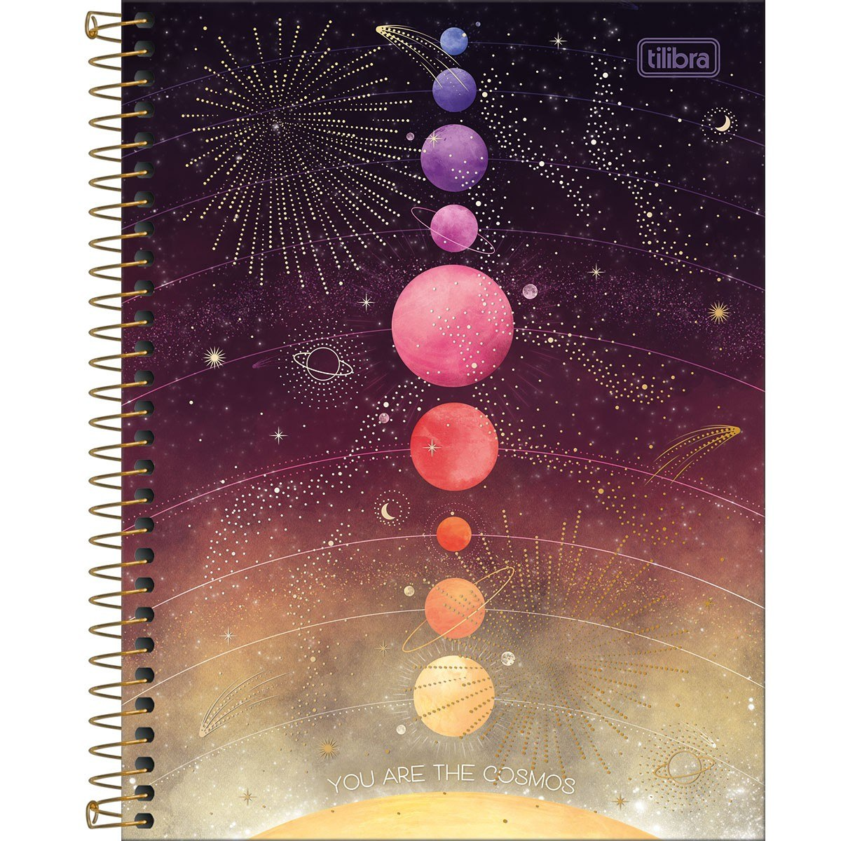 Caderno Espiral Capa Dura Colegial 1 Matérias Magic 80 Fls - Tilibra