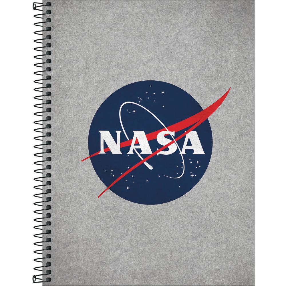 Caderno Espiral Capa Dura Universitário 10 Matérias Nasa 160 Fls - Tilibra