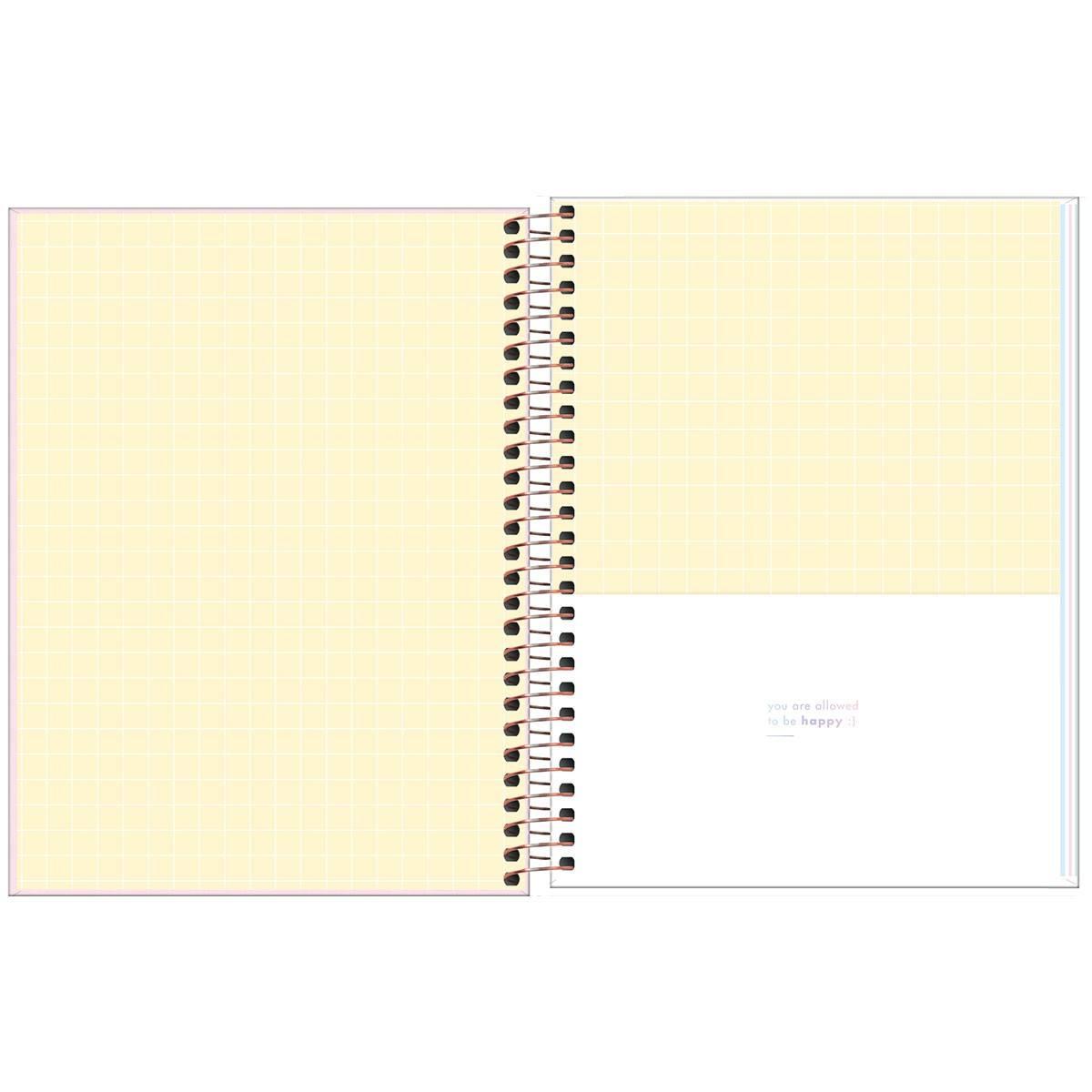 Caderno Espiral Capa Dura Colegial 1 Matéria Happy Colorido 80 Fls - Tilibra