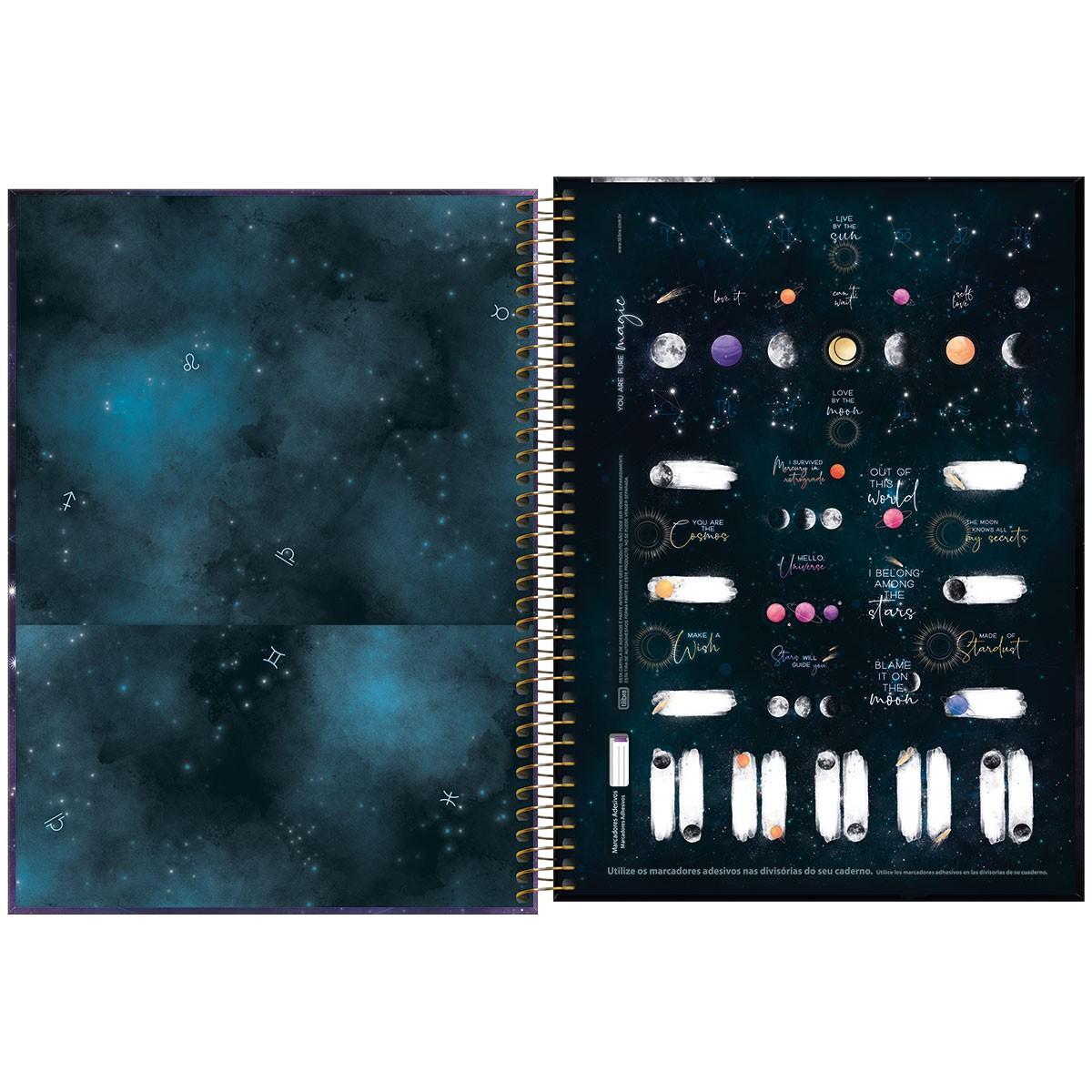 Caderno Espiral CD Universitário 16 Matérias Magic 256 Fls - Tilibra
