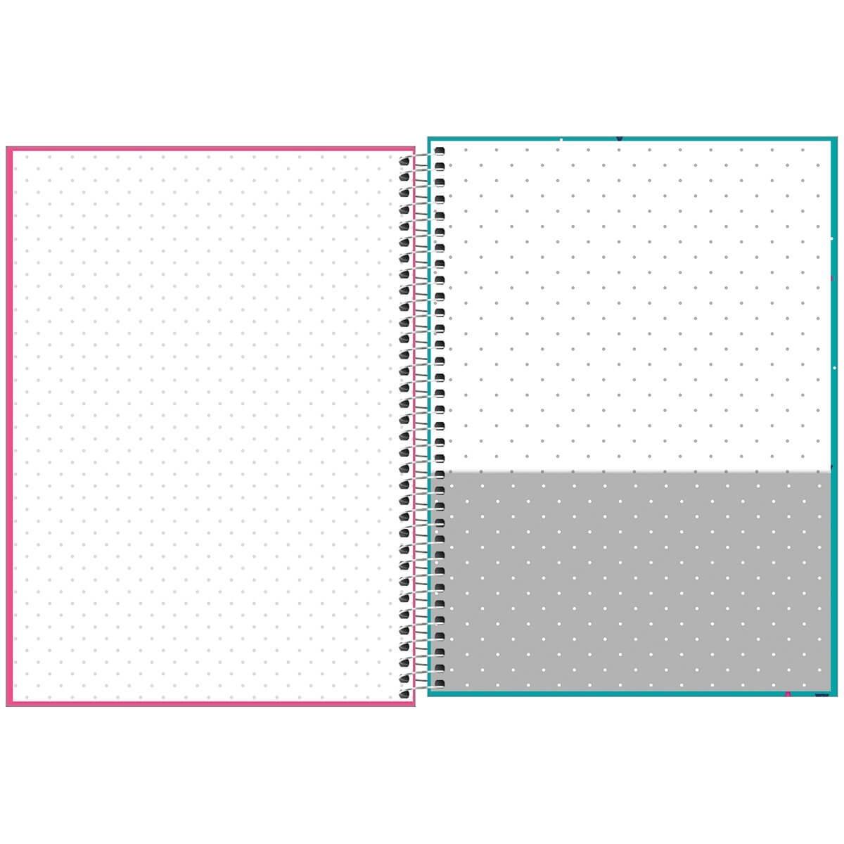 Caderno Espiral Capa Dura Universitário 12 Matérias Bichinhos 240 Fls - Tilibra