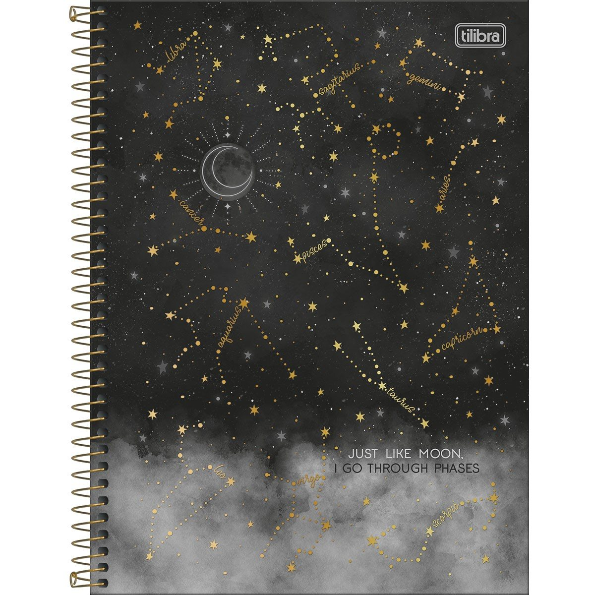 Caderno Espiral Capa Dura Universitário 10 Matérias Magic 160 Fls - Tilibra