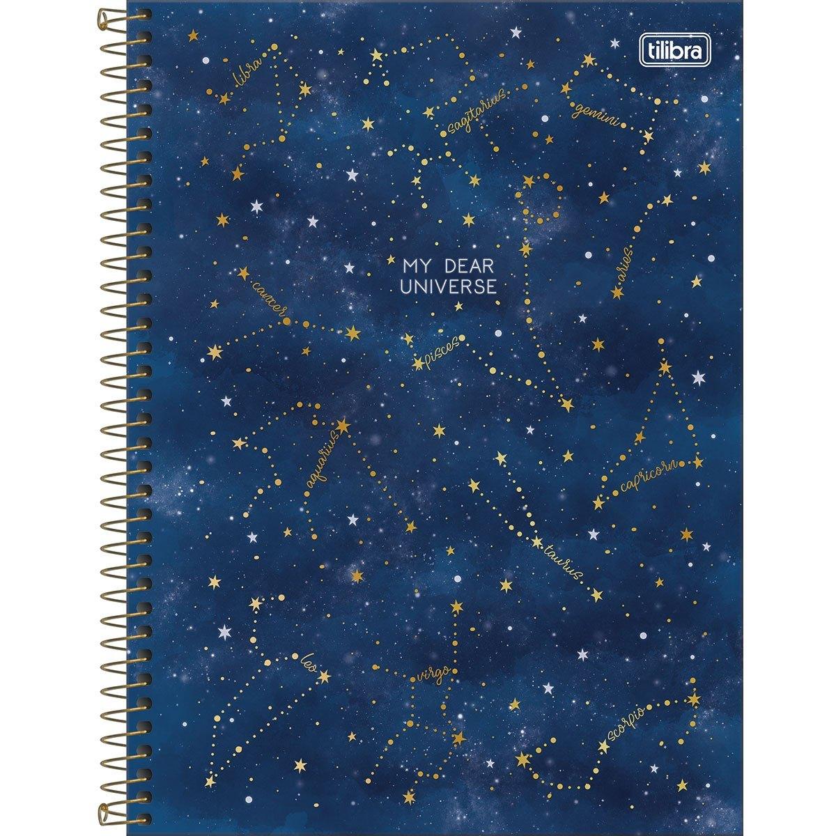 Caderno Espiral Capa Dura Universitário 1 Matéria Magic 80 Folhas - Tilibra