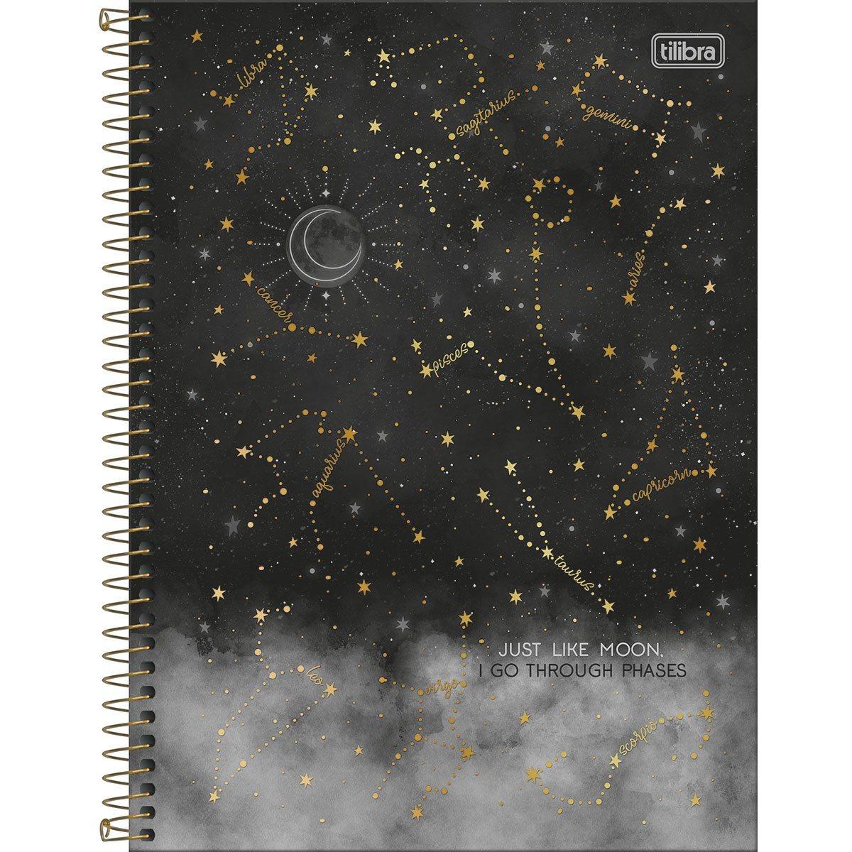 Caderno Espiral Capa Dura Universitário 20 Matérias Magic 320 Fls - Tilibra