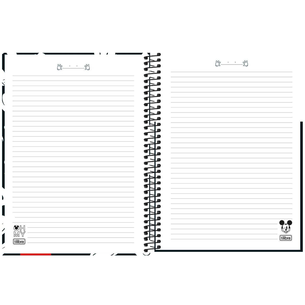 Caderno Espiral Capa Dura Universitário 1 Matéria Mickey 80 Fls - Tilibra