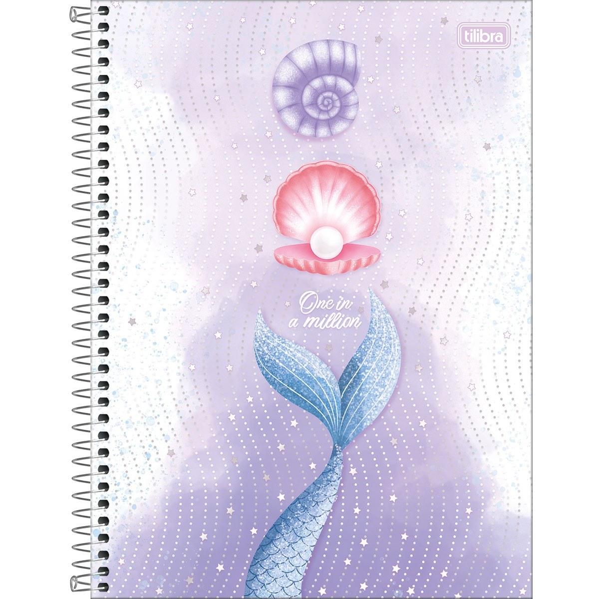 Caderno Espiral Capa Dura Universitário 1 Matéria Wonder 80 Fls - Tilibra