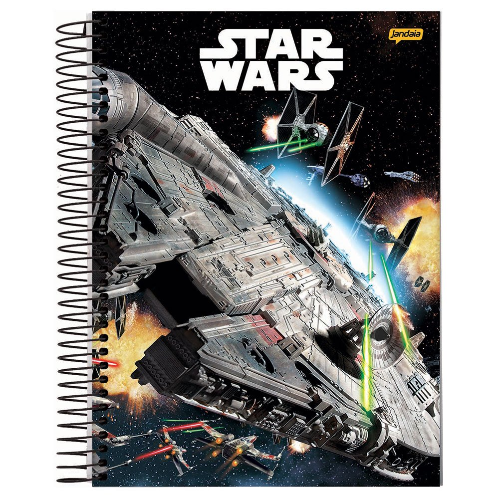 Caderno Capa Dura Espiral Universitário 1 Mat. 80 Fls  Star Wars Basic - Jandaia