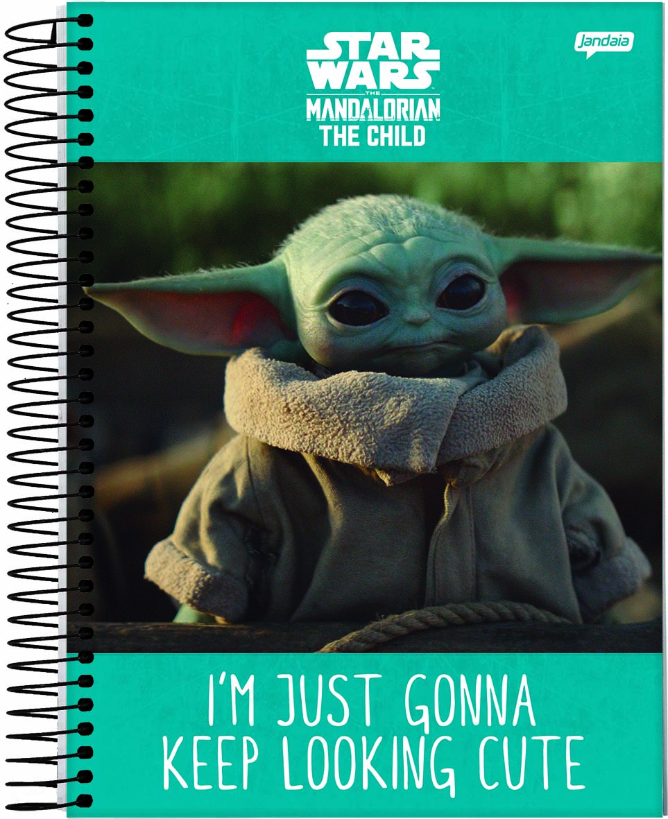 Caderno Espiral CD Universitário 10 Matérias Star Wars Baby Yoda 160Fls – Jandaia