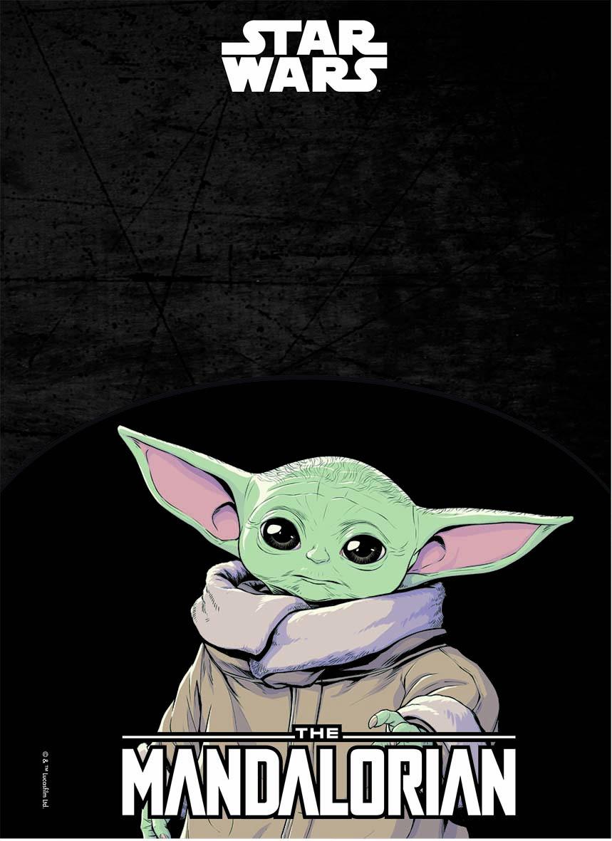 Caderno Espiral CD Universitário 1 Matéria Star Wars Baby Yoda 80fls – Jandaia