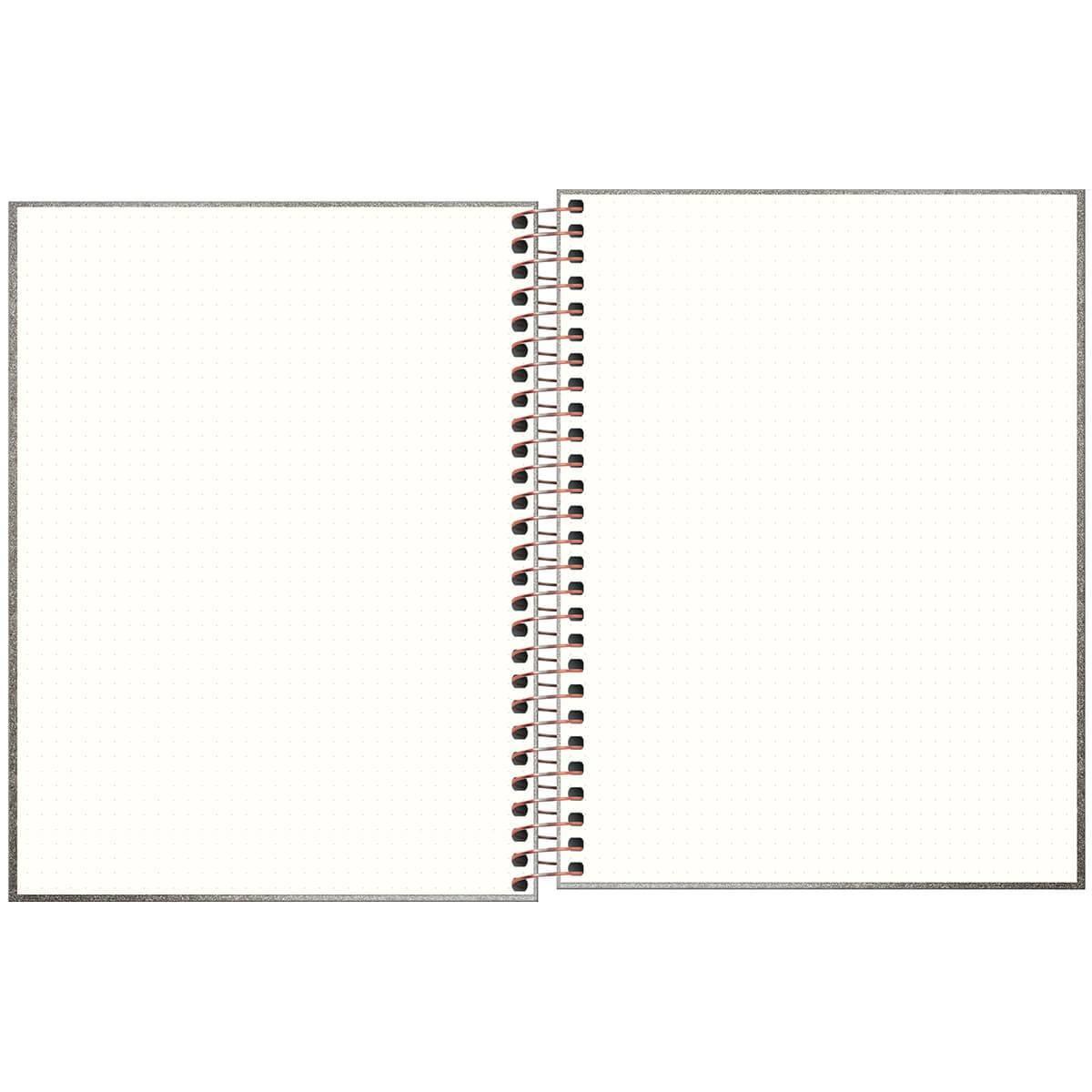 Caderno Executivo Pontilhado Espiral Capa Dura Colegial Cambridge Shine 80 Fls - Tilibra