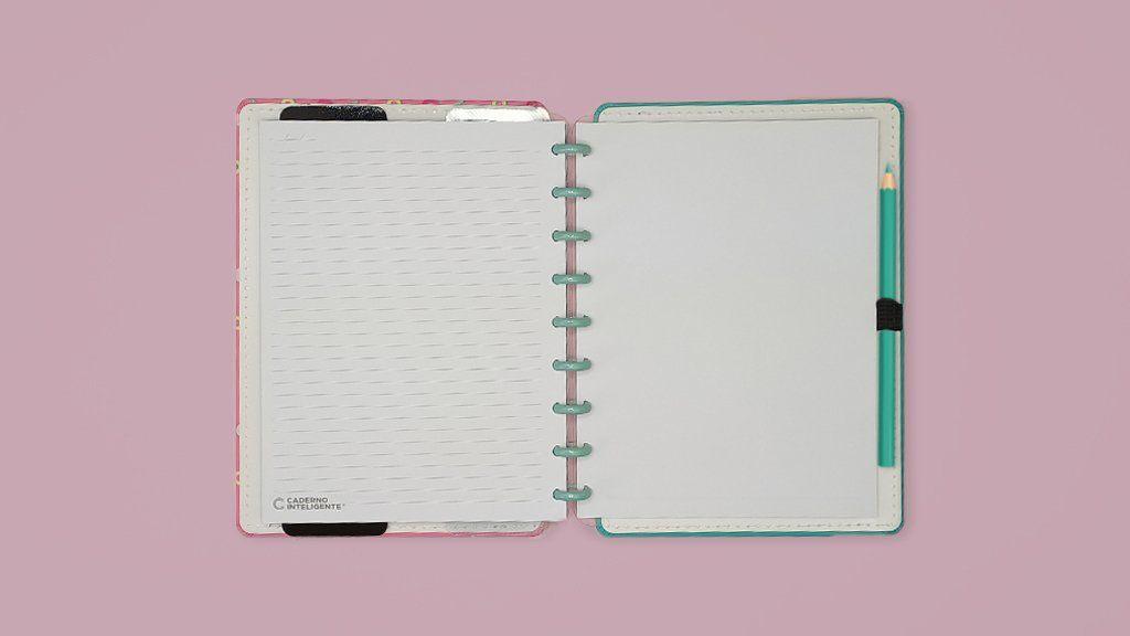 Caderno Inteligente Estampa Mania Médio