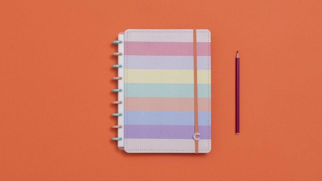 Caderno Inteligente Tons Pastel MÉDIO