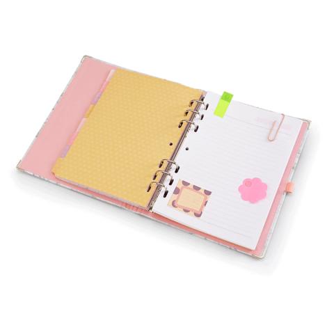 Planner / Caderno Organizador Pink Stone A5 - Ótima