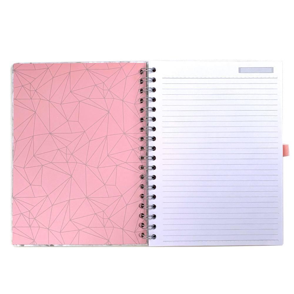 Caderno Ultra Pink Stone Mármore - Ótima