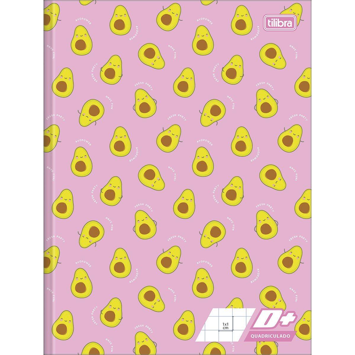 Caderno Quadriculado 1x1 cm Brochura Capa Dura D+ 40 Folhas - Tilibra