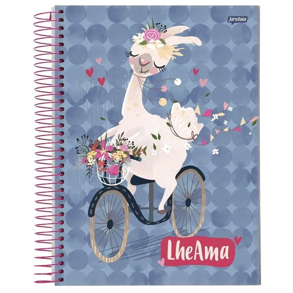Caderno Universitário Capa Dura 96Fls Lhama Jandaia (1 matéria)