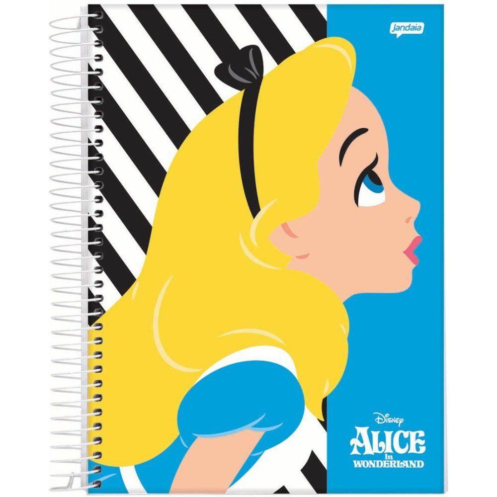 Caderno Espiral Universitário Capa Dura 96Fls Alice (1 Matéria) - Disney
