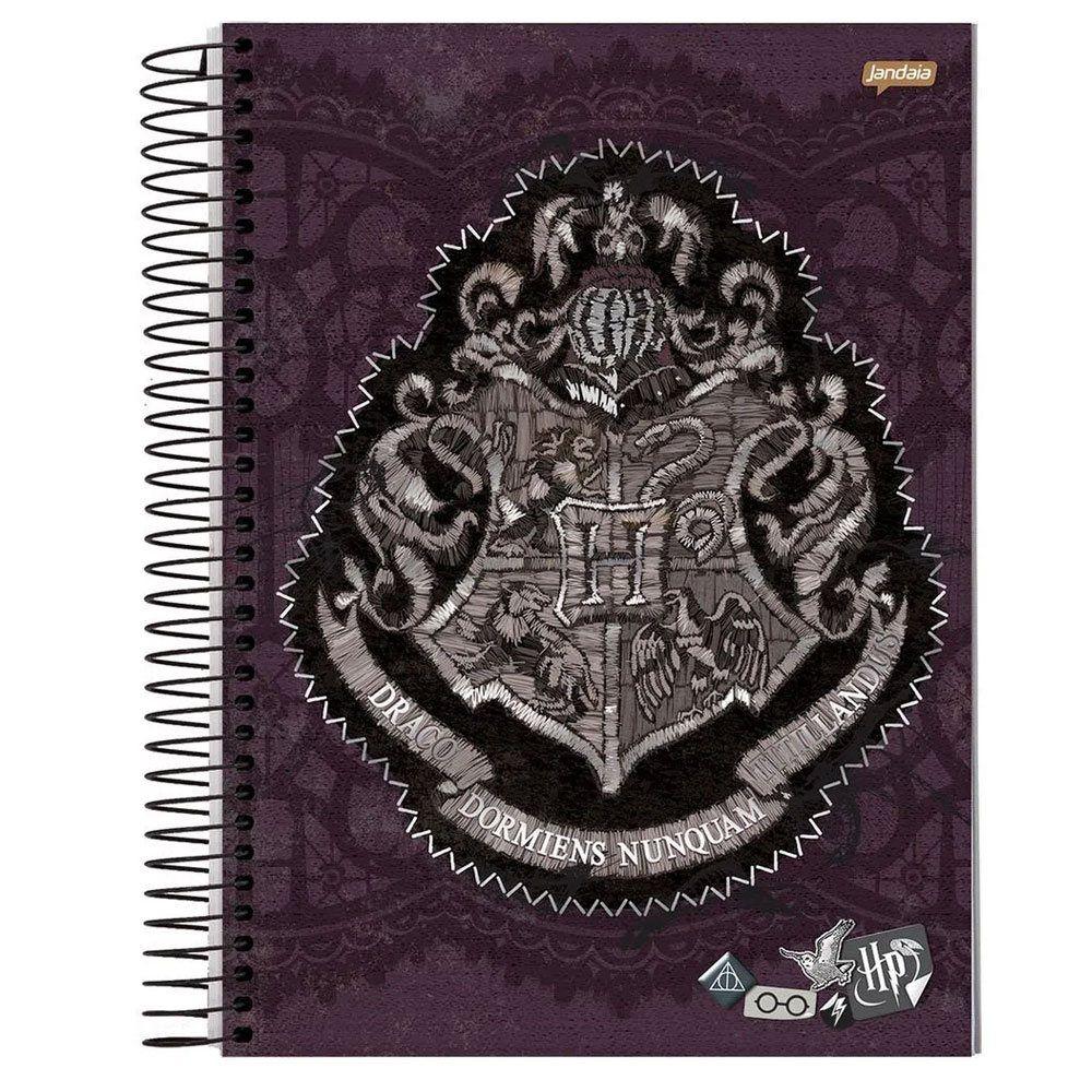 Caderno Universitário Espiral Capa Dura 96FL Harry Potter - Jandaia