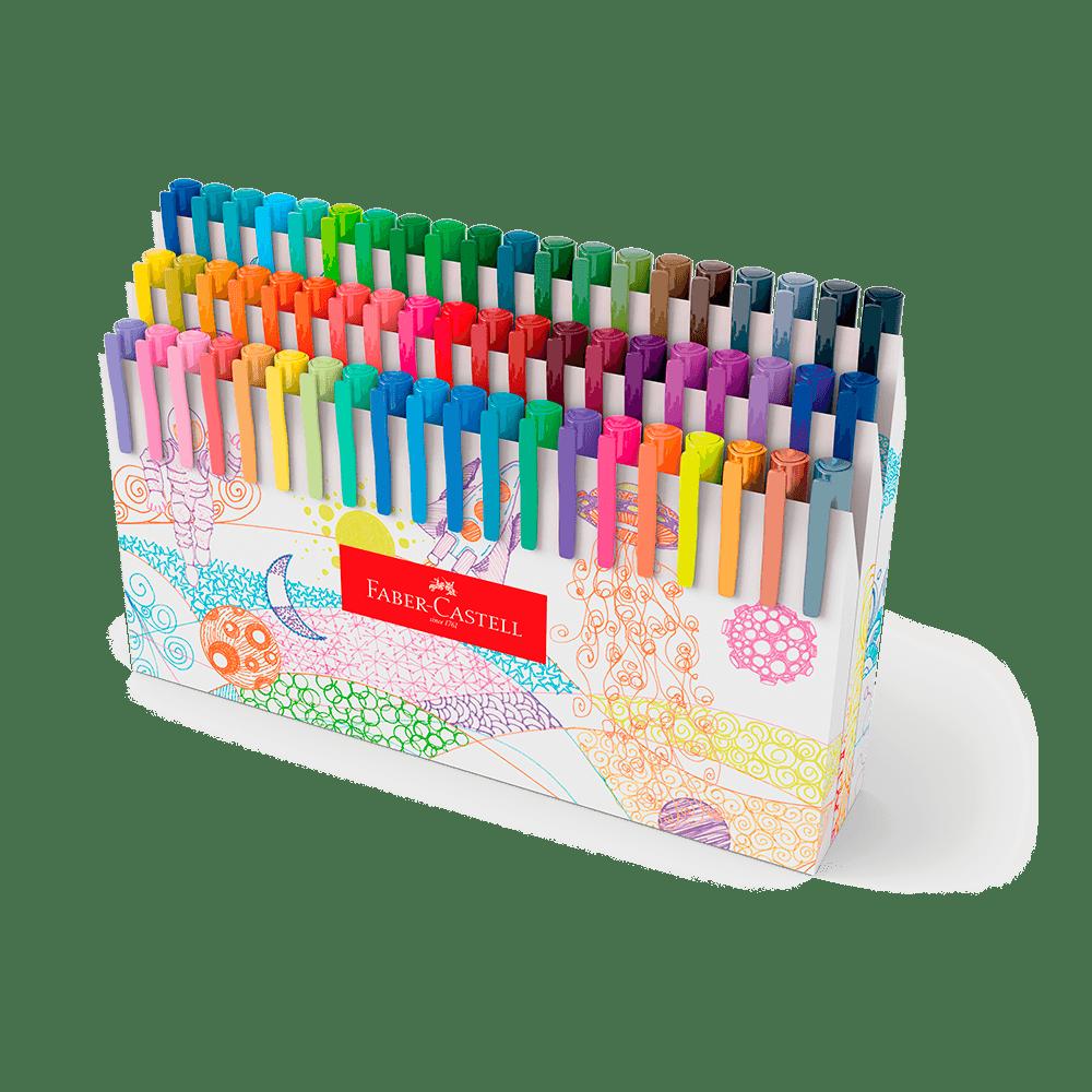 Caneta Ponta Porosa Fine Pen Colors Kit C/ 60 Cores - Faber-Castell